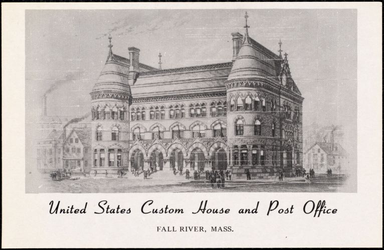 United States Custom House and Post Office. Fall River, Mass.
