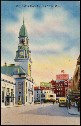 City Hall & Main St., Fall River, Mass.