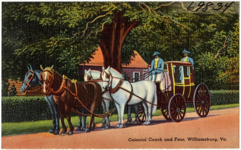 Colonial Coach and four, Williamsburg, Va.