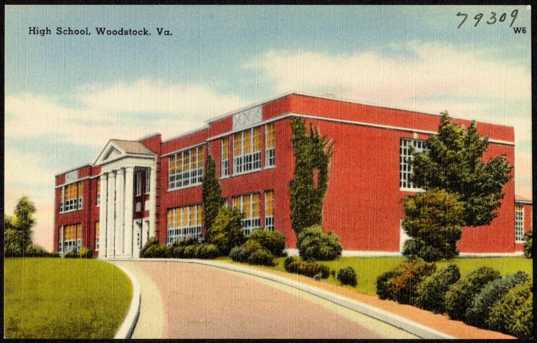 High school, Woodstock, Va.