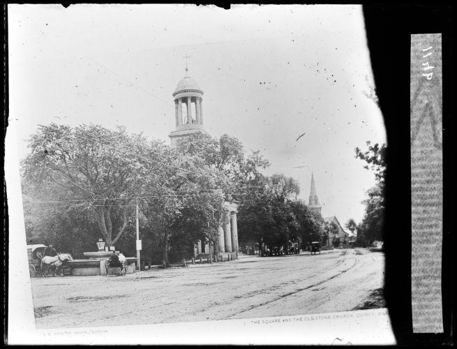Adams Temple and granite fountain