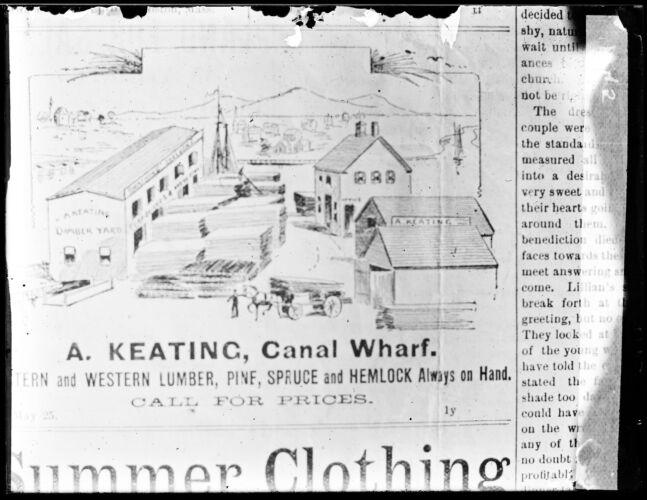 A. Keating, Canal wharf