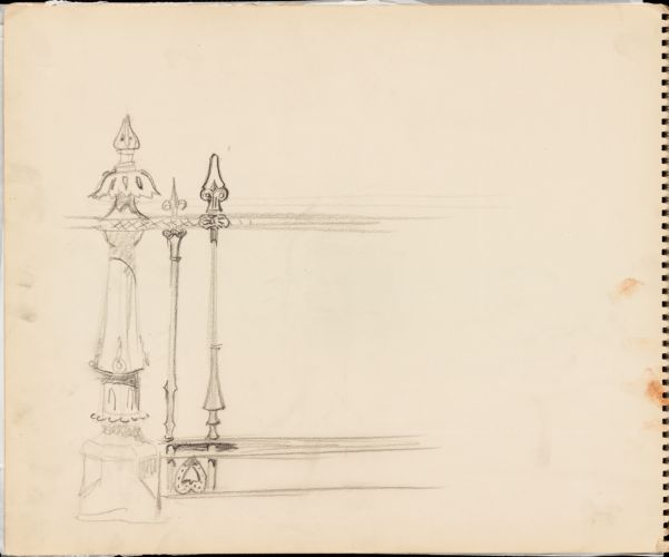 Sketch of architectural elements