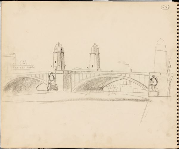 Sketch of Longfellow Bridge