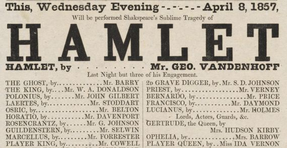 Boston Theatre Broadsides: Hamlet