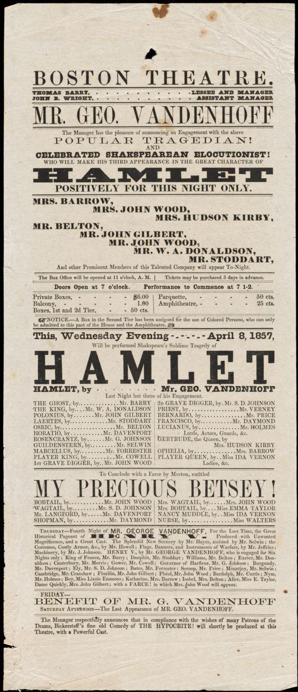 Hamlet ; My Precious Betsey