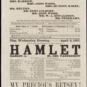 Boston Theatre Broadsides - Spring 1857