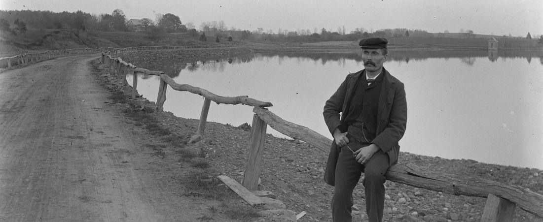Pa at Ashley Pond, 1899