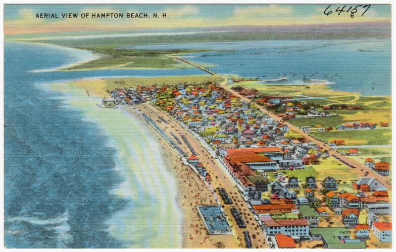 Aerial view of Hampton Beach, N.H.
