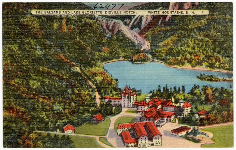 The Balsams and Lake Gloriette, Dixville Notch, White Mountains, N.H.