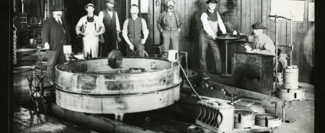 Testing flume at the Holyoke Water Power Company