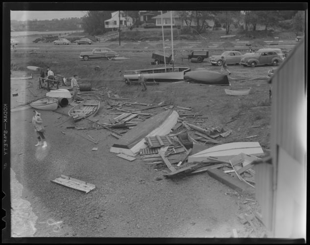 Wreckage from hurricane (possibly Savin Hill)