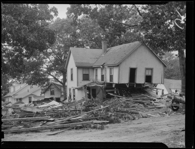 Buildings destroyed, Hurricane of 38