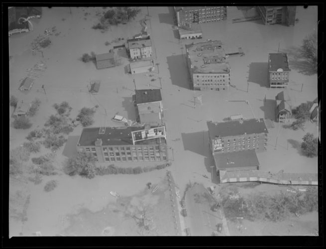 Aerial photo of aftermath of Hurricane of 38
