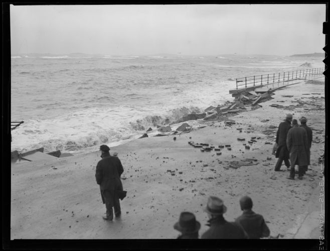 Winthrop's Shore Drive during the big storm