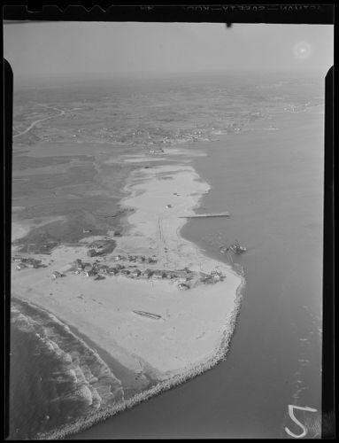 Aerial photos of coastline, Hurricane of 38