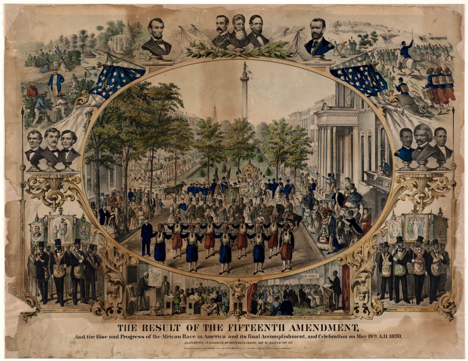 Metcalf & Clark, The result of the Fifteenth Amendment… (1870)
