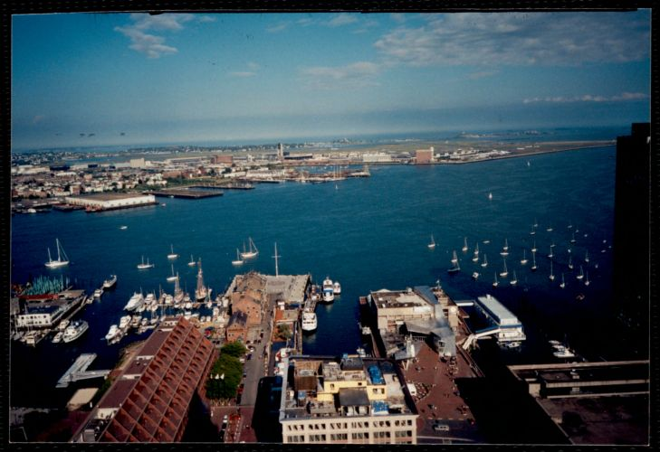 Photograph from Custom House tower, waterfront and North End