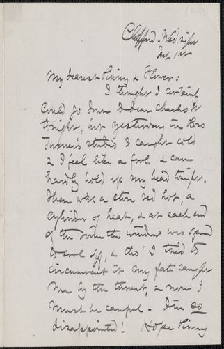 Celia Thaxter autograph letter to [Annie Fields and Sarah Orne Jewett], The Clifford, [Boston], 1 February [1888]