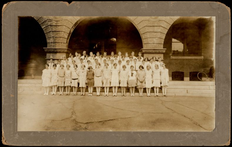 1929 graduation class. Wetherbee School