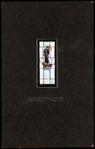 Design for window in Mr. Maginnis' private office, Maginnis and Walsh, Boston, Mass.