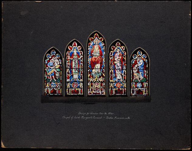 Design for window over the altar, chapel for Saint Margaret's Convent, Boston, Massachusetts