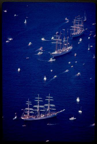 Tall ships in Boston Tall Ships Festival, Boston Harbor
