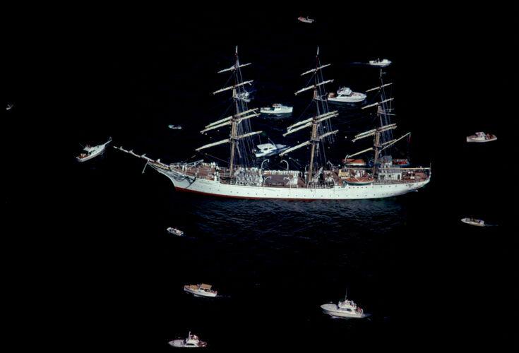 Tall ship in Boston Tall Ships Festival, Boston Harbor