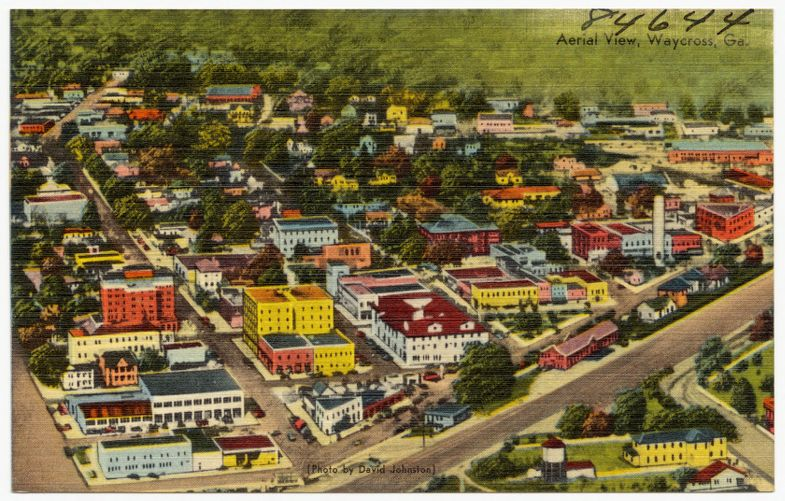 Aerial View, Waycross, Ga.