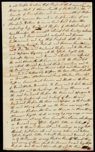 Quitclaim deed, Oliver Smith to Frederick Chapin, 1801