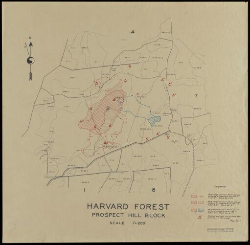 Harvard Forest Prospect Hill Block Hare Range Maps