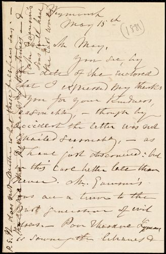 Letter from Maria Weston Chapman, Weymouth, [Mass.], to Samuel May, May 15th, [1881]