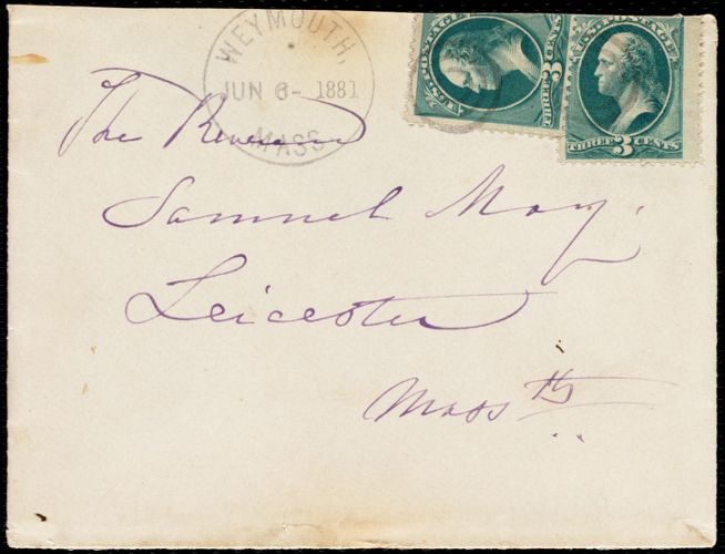 Letter from Maria Weston Chapman, Weymouth, [Mass.], to Samuel May, June 3, 1881