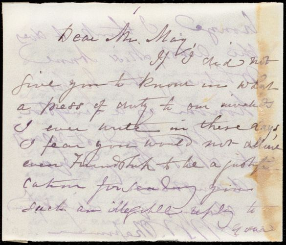 Letter from Maria Weston Chapman to Samuel May, [1881?]