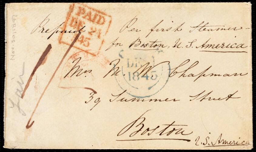 Letter from Isabel Jennings, [Cork, Ireland], to Maria Weston Chapman, Sunday evening, Nov. 30, [1845]