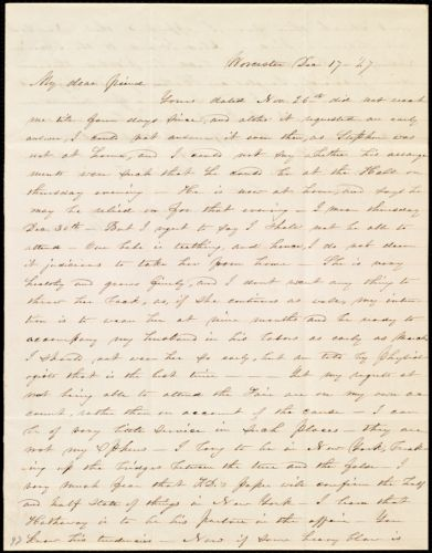 Letter from Abby Kelley Foster, Worcester, [Mass.], to Maria Weston Chapman, Dec. 17, [18]47