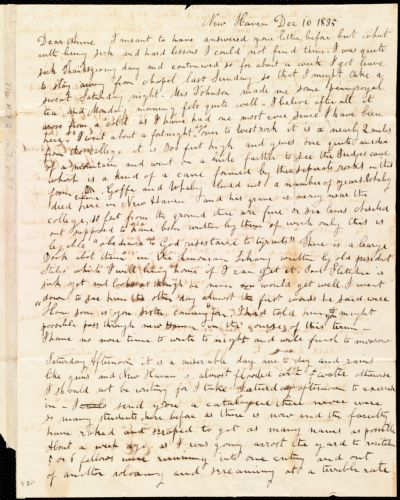 Letter from Hervey Eliphaz Weston, New Haven, [CT], to Anne Warren Weston, Dec. 10, 1835