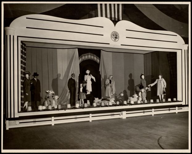 American Woolen Co. trade show display