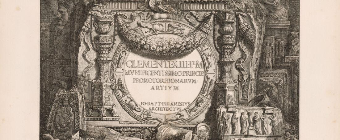 Clementi XIII P M mvnificentissmo principi promotori bonarvm artivm