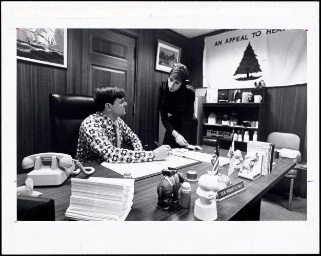 Kim Marinelli '76, intern - state house