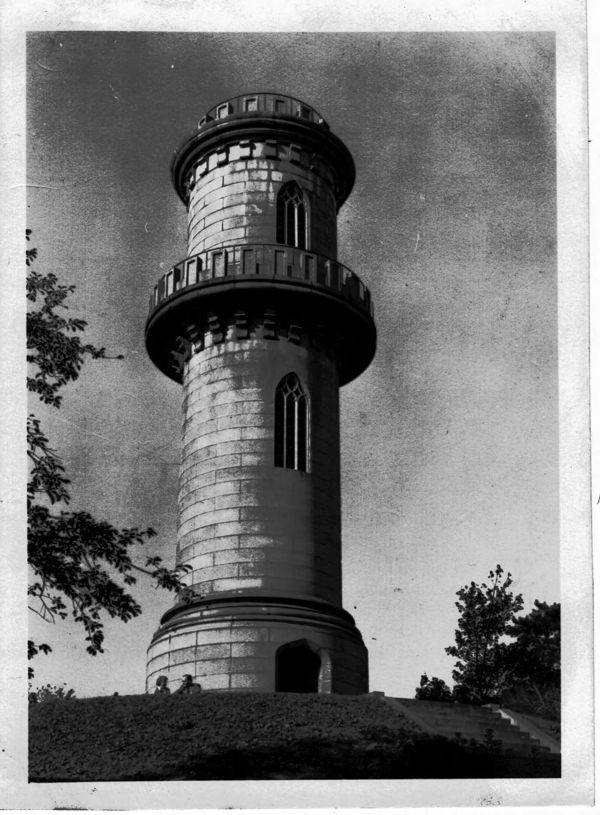 Monument Tower at Mount Auburn Cemetery.