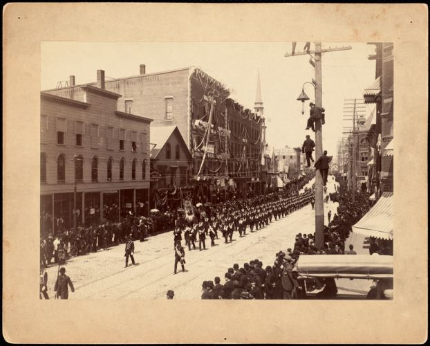 Brockton parade on Main Street
