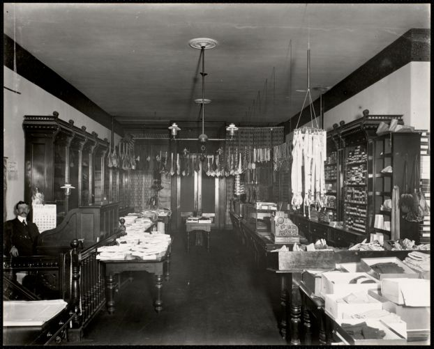 Interior of haberdashery store