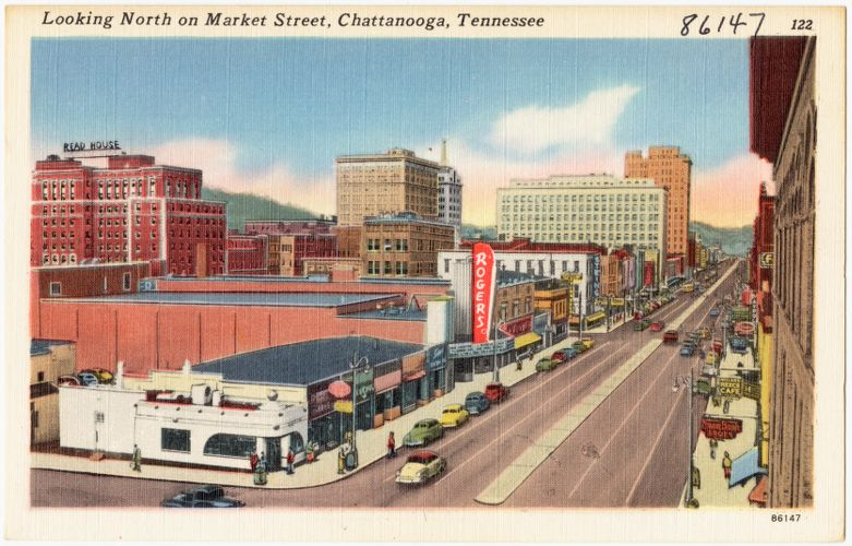 Looking north on Market Street, Chattanooga, Tennessee