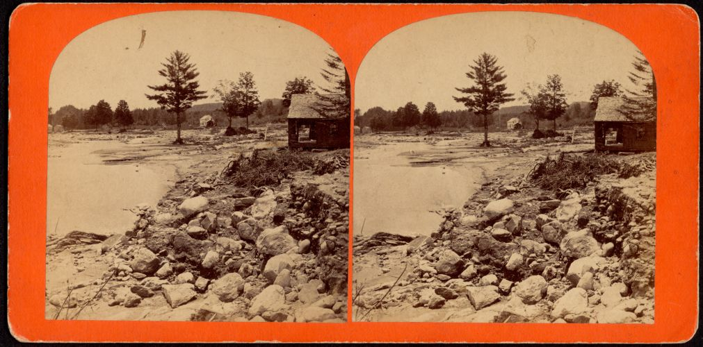 """""""Meadows Below Williamsburg"""" --view south from the Gristmill"""