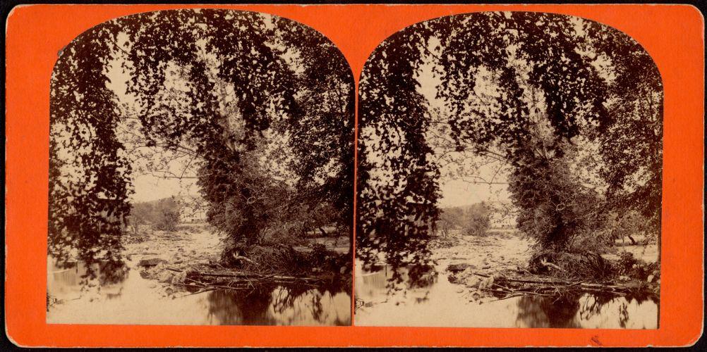 """Towards the Bridge in Williamsburg""--looking southeast"