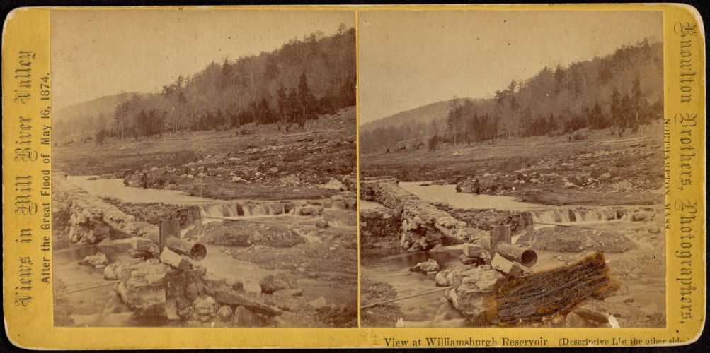 View of bed of Reservoir and waste gate--Williamsburg