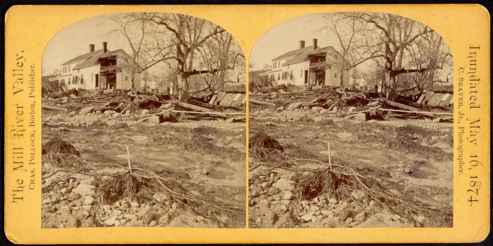 West side of Mill River--Williamsburg; [showing Hiram Hill house]