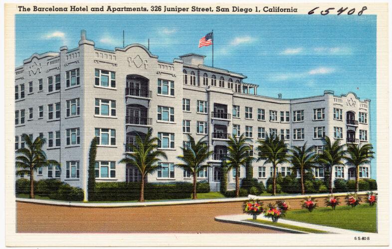 The Barcelona Hotel and Apartments, 326 Juniper Street, San Diego 1, California