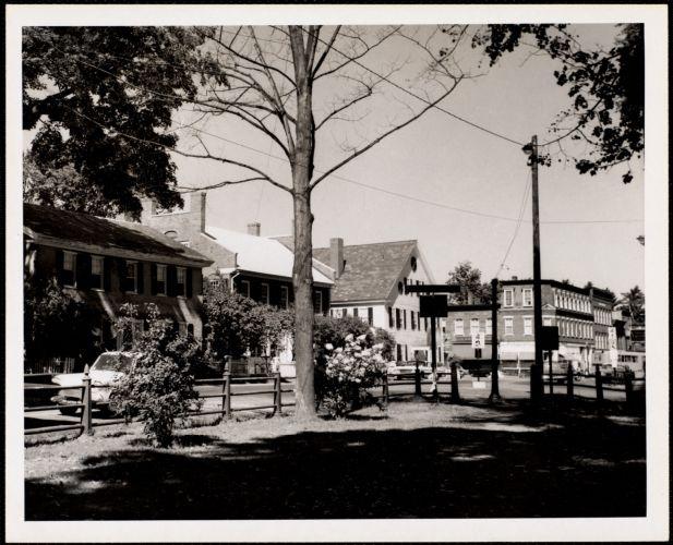 Woodstock, Vt. - village green White Cupboards Inn (White House)